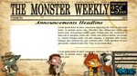 The Monster Weekly- Twitch Overlay Commission by kidbrainer