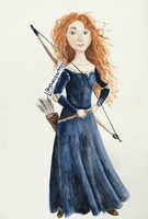 Watercolor||Realistic Merida by 4rt2yCre8or