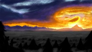 Edge of Darkness-Landscape Practice by CrystalWolf953
