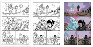 AMALAS BLADE #1 page21 process. by TheWoodenKing