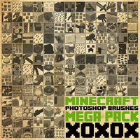 Minecraft Mega Brush Pack [2013] by radroachmeat