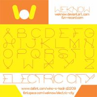 electric city font by weknow by weknow