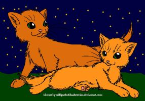 Firestar and Sandstorm 2 by DemonicVampyreWolf