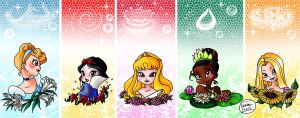 "Disney Princesses in ""Winx version"" by Eyral"