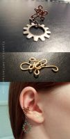 Quad Curl EarCuff by Zinantis