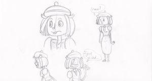 Bianca character sketches by Weaponized-Wafflez