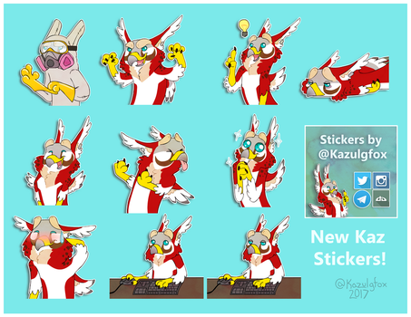 Kaz Stickers 2 by Kazulgfox