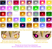 Desert Bluffs Eyes [MMD texture pack] by inside-our-mind