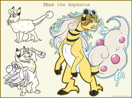 Ampharos Thor by Arcticwaters