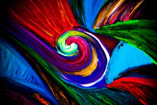 swirl oil painting by carlymay13