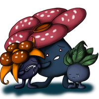 Oddish and evos by AFrozenHeart2