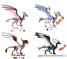 Closed Dragon Adoptables- Batch 2 by xX-CupcakeMarrow-Xx
