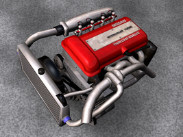 SR20DET Engine, Render 2 by Picolini