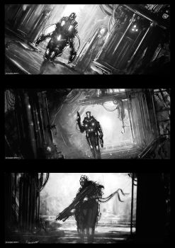 Black and White Sketches by artificialdesign