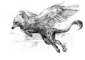 a griffin. by kyuubifred