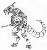 Rapton Space Dino-Commando by Angryspacecrab