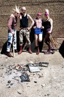 Skinhead Group 2 by ElizabethChiyoko