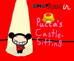 Pucca's Castle Sitting by rabbidlover01