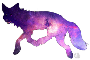 Galaxy Wolf Adopt by Dumb-Savior-Adopts