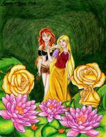 Lotus And Rose by tenshichild