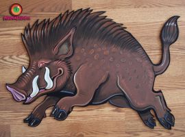 boar cut out by missmonster