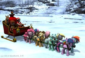 Christmas Present Pony Express by nitehawk-ltd
