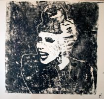 Lady Gaga- Linocut by miloesque