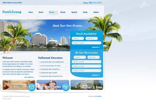 Hollywood hotels by electronicweb