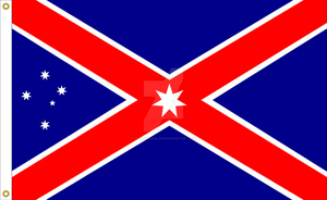 Australian Southern Cross National Flag Proposal 3 by DesertStormVet