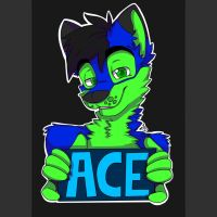Ace - conbadge commission by THEsquiddybum
