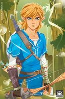 Link, Breath of the Wild, Fan Art by LenLenbell