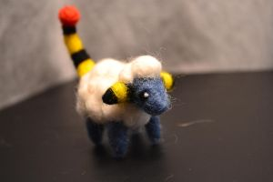 Needle Felted Mareep by feltieflaffy