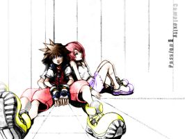 Colours of Kairi and Sora by party-chick91
