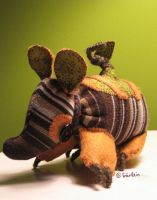 Sock Armadillo: Edgar by Schnaggletooth