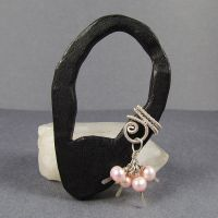 Silver and Pink Pearl Ear Cuff by sylva