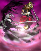 Sora vs Sephiroth color by arsenalgearxx