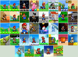 Mario ALL POWER UPS by Gregarlink10