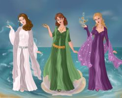 Final Three Muses by RoseHarmony