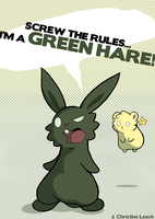 GREEN HARE!!! by Furrama