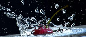Cherry Splash close Wallpaper by AREANDRES