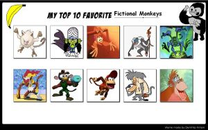 TheDarkBrawler90's Top 10 Monkeys Meme by TheDarkBrawler90