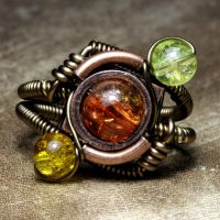 Orbit steampunk ring by CatherinetteRings