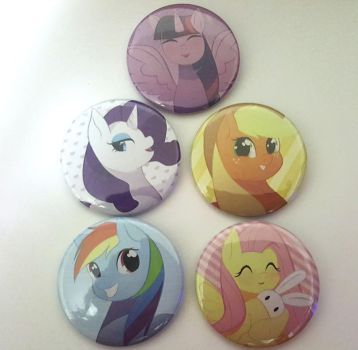 My Little Pony: FiM Pinback Buttons Set by DehSofa