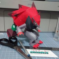 Pokemon Papercraft - Zoroark by DenisSensei