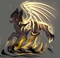 Dark Tiger Butterfly Wolf Adopt Auction CLOSED by Shiinrai