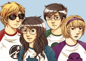 Homestuck Beta kids by Sukai-yume