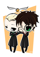 Draco and Harry by winter-kareki