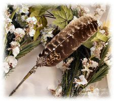 CAT MAGICK Feather Pen B by ChaeyAhne