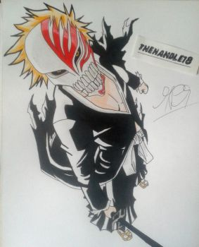Bleach - Hollow Ichigo by thehandle18