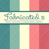 Free Fabricated 8: Fabric Textured Papers by TeacherYanie